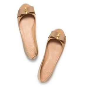 Tory Burch Trudy Bow Patent Leather Ballet Flats